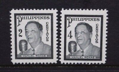 PHILIPPINES 1948 President Roxas Mourning Issue. Set of 2. MNH. SG663/664.