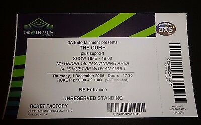 The Cure used Concert Ticket - Wembley 2016