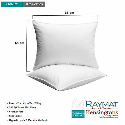 """Microfibre Cushion Bounce Back Fibre Inner Scatters Pads  32""""x32"""" Hotel Quality"""