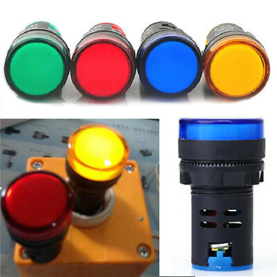 Lamp Highlighted LED Pilot Panel Indicator Signal Warning Light Lamp Hot HIGH