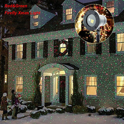 Xmas Party Lawn Garden LED Laser Projector Light Lamp Red Green Outdoor Indoor