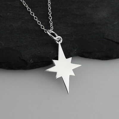 North Star Necklace Women Pendant 925Sterling Silver Chain Meteorites STARSBrand
