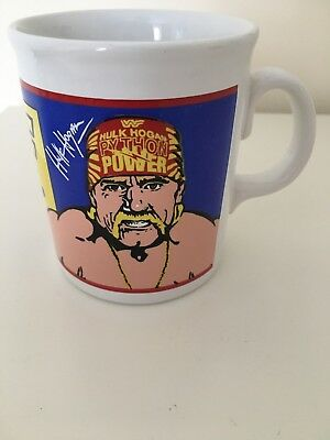 Vintage WWF Hulk Hogan Ultimate Warrior 1990 Mug