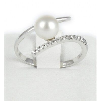Gold Ring 18 Carat With Pearl Natural Cultivated In Water Dolce