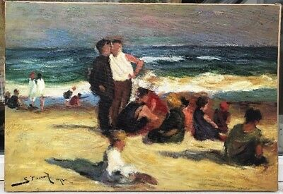 1950/60s FRENCH / SPANISH IMPRESSIONIST OIL PAINTING by S.Picard