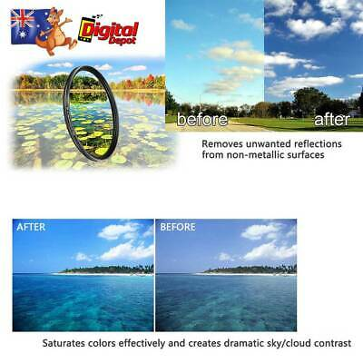 CPL Circular Polarizing Polarizer filter DSLR Camera Lens Waterproof