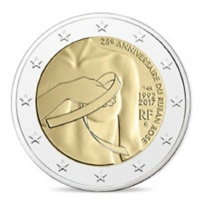 FRANCE  2 € euro  commemorative coin 2017 - Breast cancer