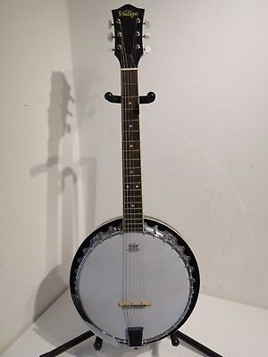 Vintage 6 String Banjo Resonator Closed Back Banjo