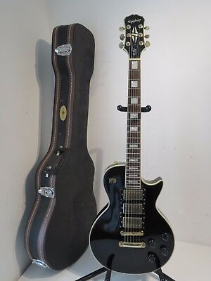 2010 Epiphone Les Paul Custom 3 Pickup Black Beauty Electric Guitar