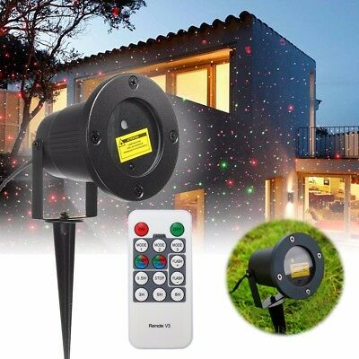 R&G Laser Fairy Light Projection Projector Christmas Outdoor Landscape LED Lamp
