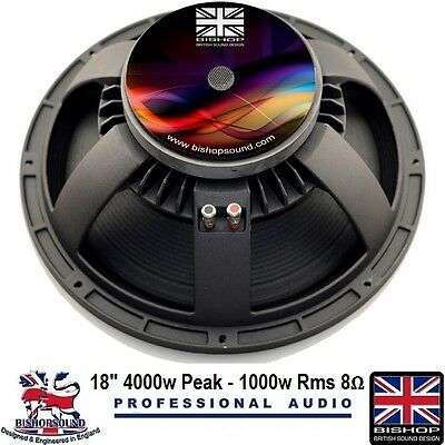 18 Inch Speaker Replacement Driver Woofer 1000w RMS