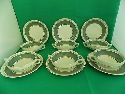 ADAMS MICRATEX 6 x SOUP CUPS AND 6 x SAUCERS