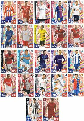 Topps Match Attax Champions League 2017/18 Hot Shot Einzel Auswahl choose NEU