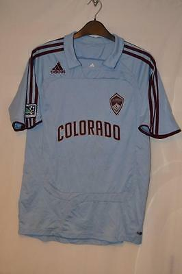 Colorado Rapids Adidas Blue Football Shirt Uk Size 34/36