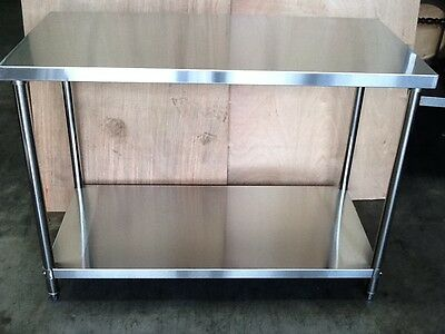 Brand new Stainless Steel Bench 1500 x 600 x 850 mm