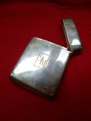 Deakin & Francis Solid Silver Business Card Case Dated 1885