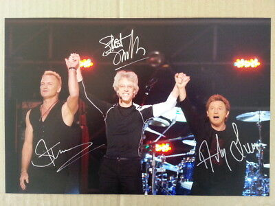 The Police Sting Original Hand Signed Autograph 8 x 12 Photo with COA