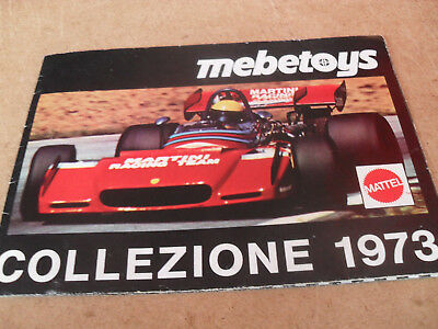 Mattel Mebetoys Toy Catalogue 1973 Italian Edition Excellent Condition For Age