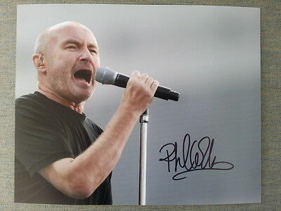 Phil Collins Genesis Original Hand Signed Autograph 8 x 10 Photo with COA