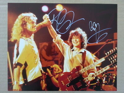 Robert Plant Jimmy Page Led Zeppelin 8 x 10 Photo with Hand Signed Autograph COA