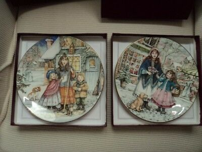 Two Nspcc Official Christmas Plates. Good Condition Never Been On Display .