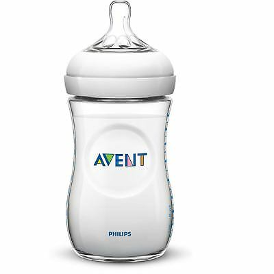 Philips AVENT Natural Slow Flow Baby Milk Feeding Bottle Anti-Colic 260ml/9oz