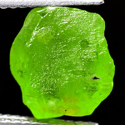 IF HIGH QUALITY 4.85ct 100%NATURAL UNHEATED GREEN PERIDOT ROUGH FACET NR!