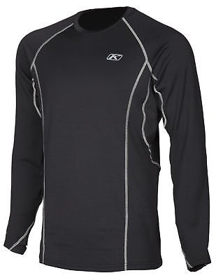 Klim Mens Black Aggressor 2.0 Warming Long Sleeve Snowmobile Base Layer Shirt