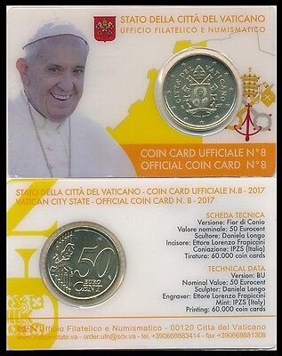 "50 Centimes Vatican 2017 ""Coin Card"""