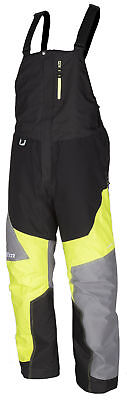 Klim Mens Green/Grey/Black Klimate Insulated Snowmobile Bibs Pants Snow Snocross