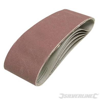 Silverline 391857 Sanding Belts 75 x 533mm 5pk 40 Grit BXB