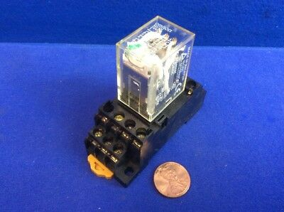 Omron My4N Relay 24Vdc With 30Z8W2 Socket