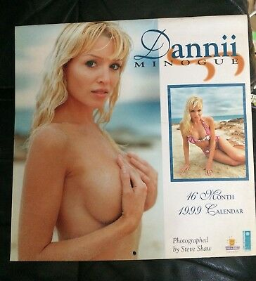 Retro Official Dannii Minogue 1999 16 month Calendar