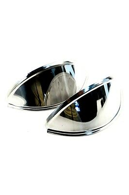 Volkswagen Smooth Chrome Headlight Eyebrows Pair For Vw Bug Bus Ghia Ac941301