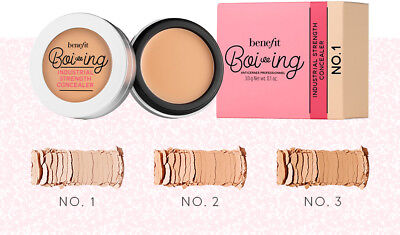 Benefit Boi-Ing Industrial Strength Concealer Bnib 100% Genuine 3G Choose No.1/3