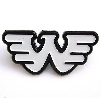 Waylon Jennings PIN - Rare Solid White Logo Black Plated Outlaw Country non-cd