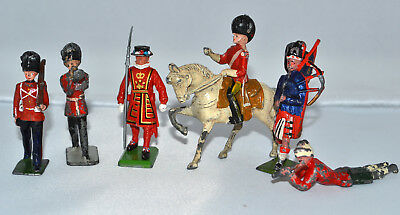 6 Old Johillco / Britains metal Toy Soldiers