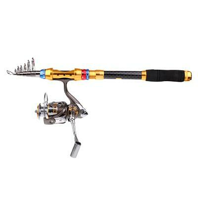 Fishing Rod and Spinning Reel Combo 2.7m Telescopic Fishing Rod Reel Set