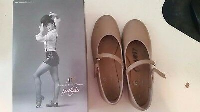 Girls Size Youth 1.5 ABT Spotlights Tan Tap Shoes American Ballet Theater Dance