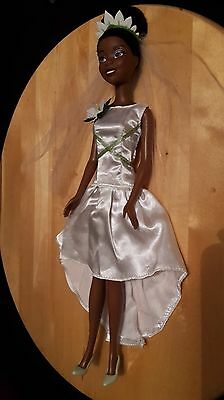 "Rare Disney Store Princess Tiana Wedding The Princess and Frog Doll 12"" Mattel"
