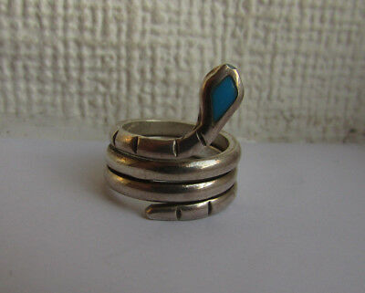 Native american/navajo silver and turquoise ring
