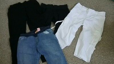 Huge lot of used maternity clothes size medium