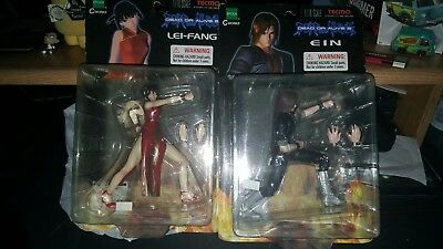 Epoch Tecmo 2000 Dead or Alive 2 Action Figures 1/10th Scale Ein and Lei-Fang
