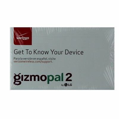 LG Gizmopal 2 Verizon Manual Guide/Consumer and Product Information Pack VC110