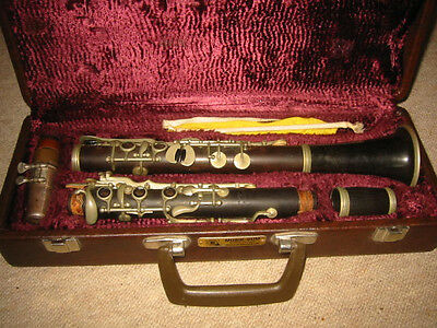 "Nice old wooden Bb Clarinet 5 rings ALBERT? System ""Migma Fritz Wilkening"""