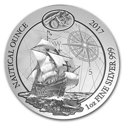 NAUTICAL OUNCE SANTA MARIA CHRISTOPHER COLUMBUS FLAGSHIP 2017 1 oz Silver Coin