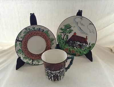 John Maddock and Sons .Vintage cup, saucer and plate.