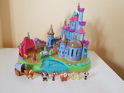 Disney Polly Pocket Beauty And The Beast Castle Playset, Complete