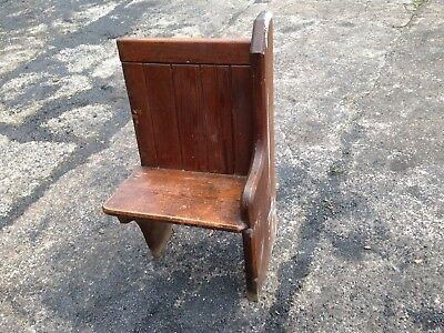 2ft Antique Church Pew Settle Furniture Home Cafe Restaurant Small End