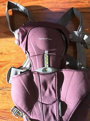Mamas and Papas Baby Carrier Mauve Excellent Condition